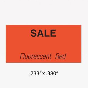 Monarch 1110 Labels, Red SALE, Removable adhesive