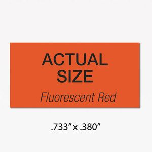 Monarch 1110 Labels, Fluorescent Red, Removable adhesive