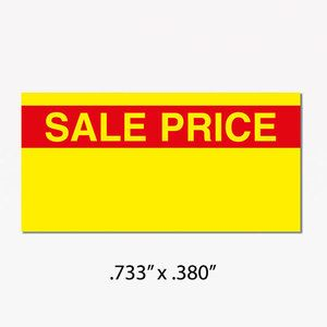 "Monarch 1110 Labels, Yellow/Red ""SALE PRICE"""