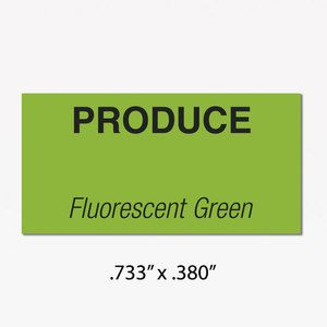 Monarch 1110 Labels, Fluorescent Green