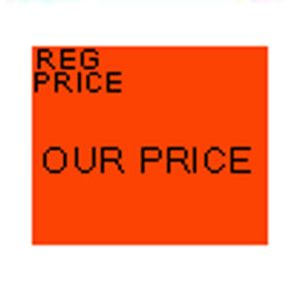 Monarch 1115 Labels, Fluorescent Red REG. PRICE/OUR PRICE