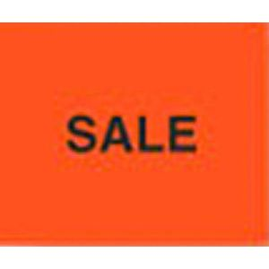 Monarch 1115 Labels, Fluorescent Red SALE, Removable Adhesive