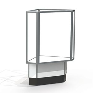 Corner Display Cases, use with Full Vision Case with Lights