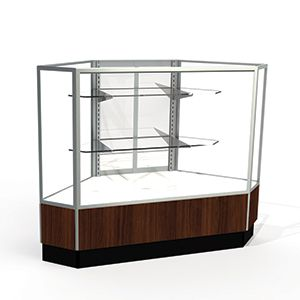 Mirror Doors, Rear Access Corner Display Cases, for Full Vision Showcase