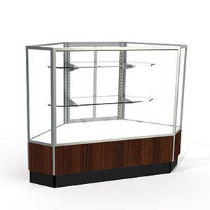 Laminate Doors, Rear Access Corner Display Cases, for Full Vision Showcase