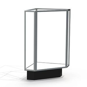 Corner Display Cases, use with Extra Vision Case with Lights