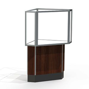 Corner Display Cases, use with Half Vision Case with Lights