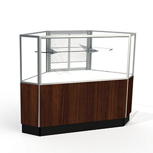 Mirror Doors, Rear Access Corner Display Cases, for Half Vision Showcase