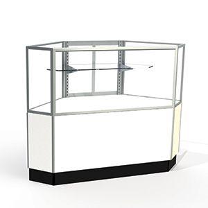 Laminate Doors, Rear Access Corner Display Cases, for Half Vision Showcase