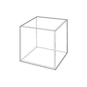 """3/16"""" Acrylic Open Cubes, 12"""" x 12"""" x 12"""""""