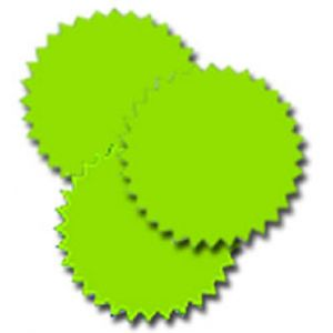 Fluorescent Starburst Labels - 314500537