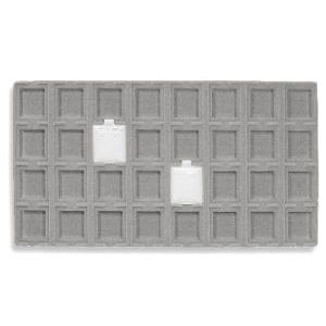 Jewelry 15 Compartment Tray Liner, Black