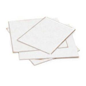 """Flat Corrugated White Pads, 10"""" x 8"""""""