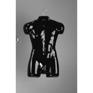 Black, Male Full Torso Molded Forms
