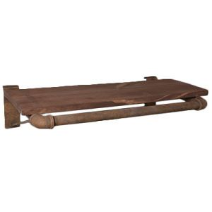 3' wide Black, Pipe Hanger with Shelf