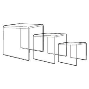 "1/4"" Acrylic Risers, Set of 6"", 8"", 10"", 12"""