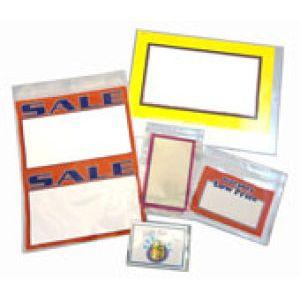 "Vinyl Sign Envelopes, 2 3/4""W x 3 1/2""H - Opens on short side"