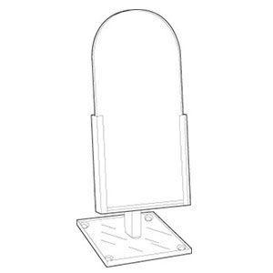 "Acrylic Domed Countertop Glass Mirror, 9"" x 12"""