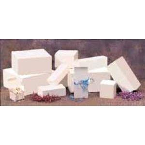"""White Folding Gift Boxes, 6.5"""" x 6.5"""" x 1.5"""""""