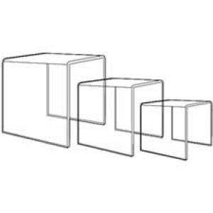 Acrylic Economy Molded 3 Piece Riser Set