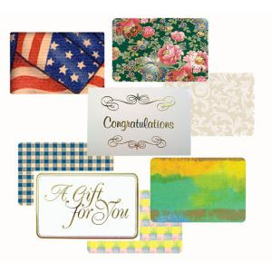 Everyday Gift Enclosure Card, Gingham on Kraft - Green