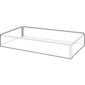 "Acrylic Display Trays, 10"" x 1.25"" x 8"""