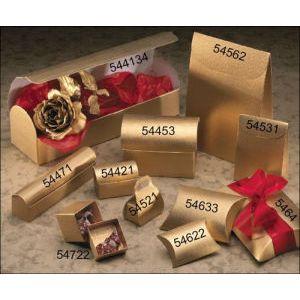 3 Bottle Carrier, Matte Gold Linen Gift Box