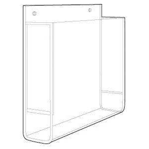 "Acrylic Single Pocket Wallmount Brochure Holders, 8.5"" x 11"""