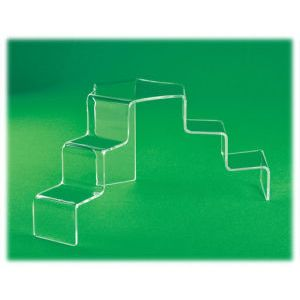 """Acrylic Clear Tiered Stairs, 6.5"""" x 14"""" x 8"""""""