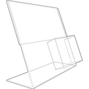 Acrylic Sign Holder with Literature Pocket - 701086