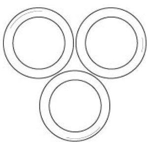 Acrylic Apparel Scarf Ring Displayer