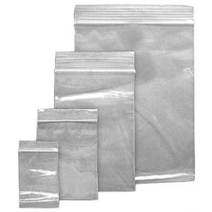 """Clear Zipper Reclosable Poly Bags, 3"""" x 5"""""""