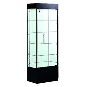 Cherry, Hexagon Stretched Tower Display Case