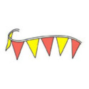 Red and Yellow Pennants - 7515004