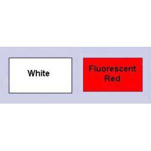 Fluorescent Red, 1 Line Garvey 25 Labels