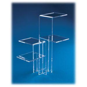 Acrylic Interlocking Four Way Riser