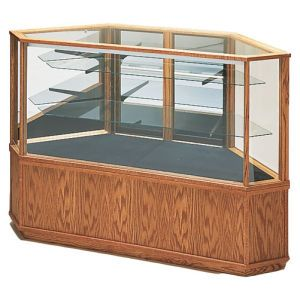 6' Rectangle, Extended Vision Display Case, with Lights