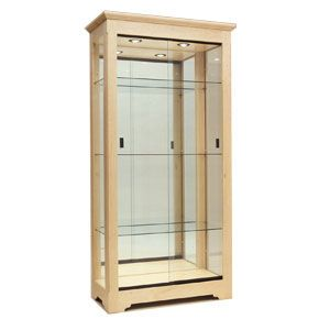 5' Oak, Collector's Series Upright Displays, with Lights