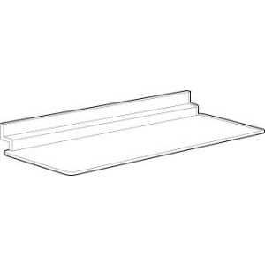 "1/8"" Acrylic Molded Shelves for Slatwall, 9"" x 4"""