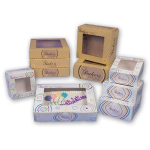 White, Baker's Choice Window Bakery Boxes,