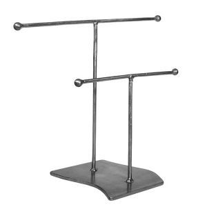 2 Tier Jewelry Contemporary Display Stand