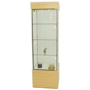 Black, Compact Square Tower Display Case