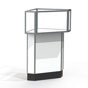Corner Display Cases, use with Jewelry Case