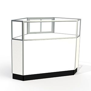 Laminate Doors, Rear Access Corner Display Cases, for Jewelry Showcase