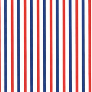 Dots & Stripes Gift Wrap, Red & Blue Stripe, around the roll
