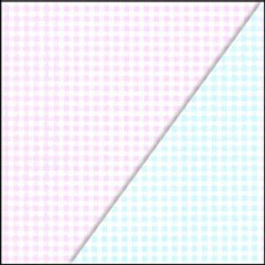 Juvenile Gift Wrap, New Gingham, 2 Sided, Pink & Blue