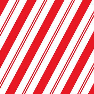 Simple Candy Cane Stripe, Christmas Patterns Gift Wrap