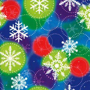 Colorful Snowflakes, Snowflake Gift Wrap
