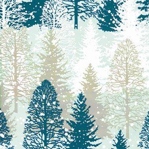 Snowy Winter Trees, Snowflake Gift Wrap