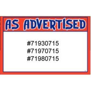 As Advertised - 71930715